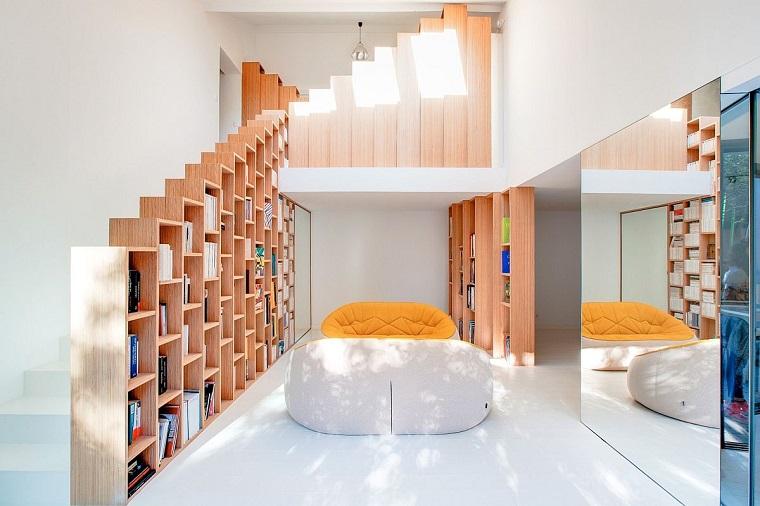 libreria design gradini arredamento stile minimalista