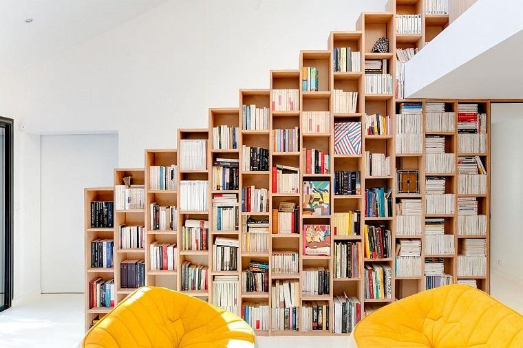 libreria design gradini sembra porta piano superiore