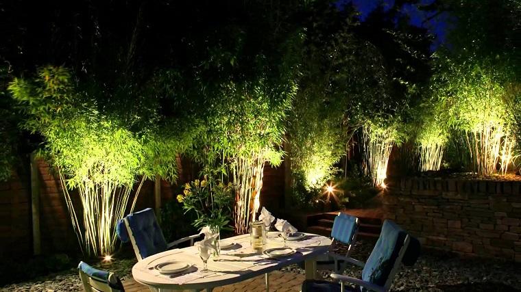 luci giardino soluzione interno bamboo