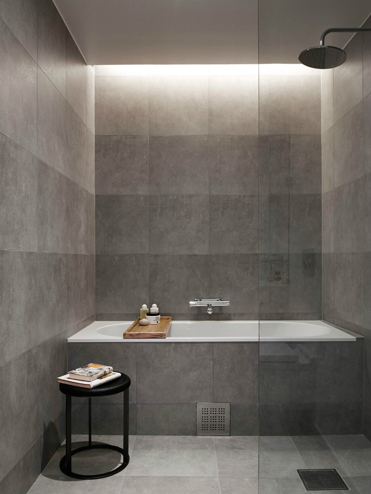 lucine incorporate soffitto bagno design moderno