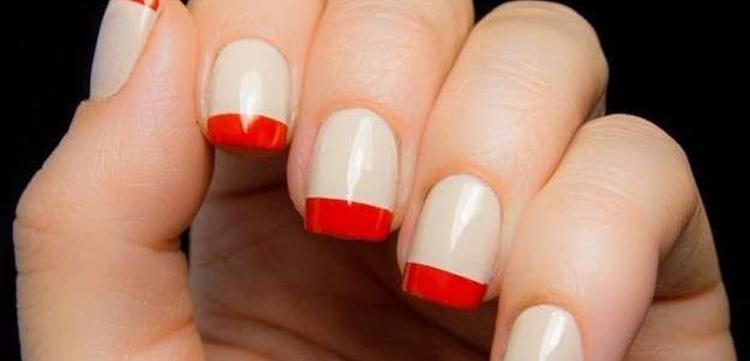 manicure francese originale realizzata rosso