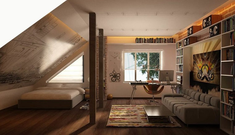 Mansarda ecco come creare una camera da letto comoda e di for Idee arredamento mansarda