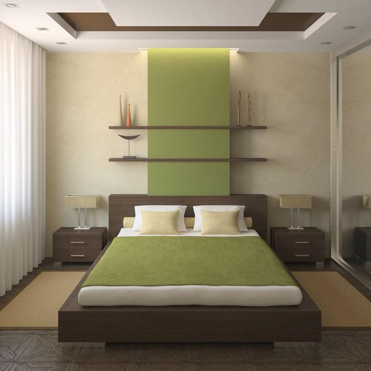 mobili decorazioni camera letto colore verde