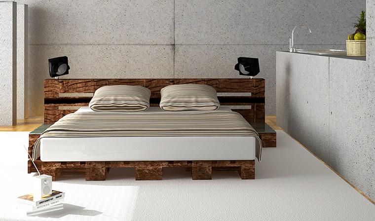 mobili pallet letto legno scuro