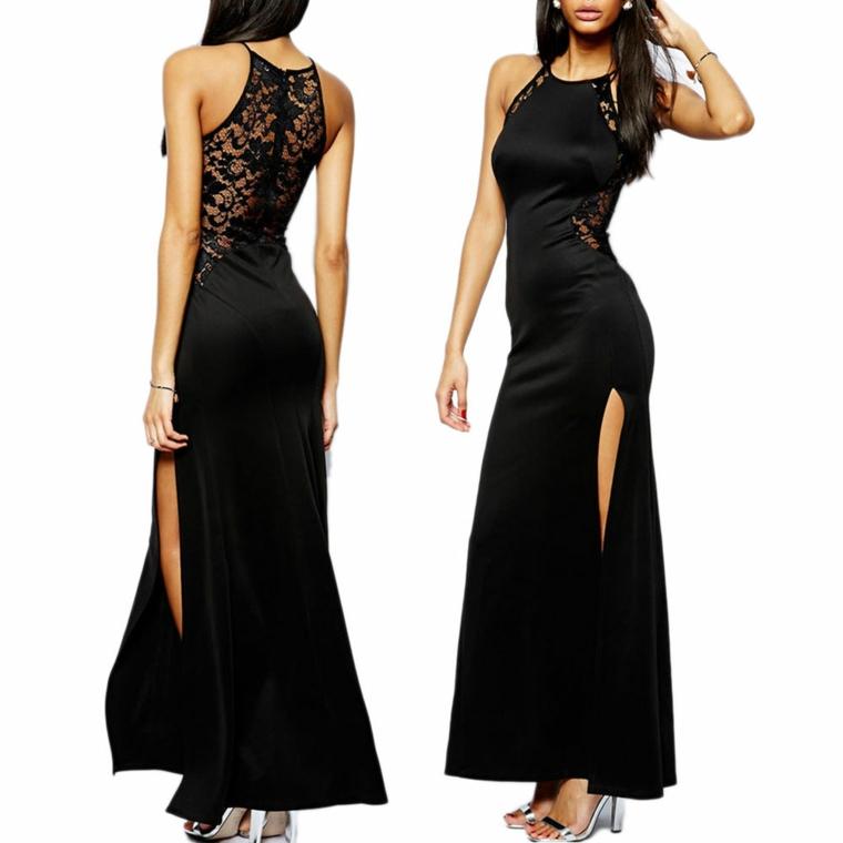moda vestito classico nero idea capodanno