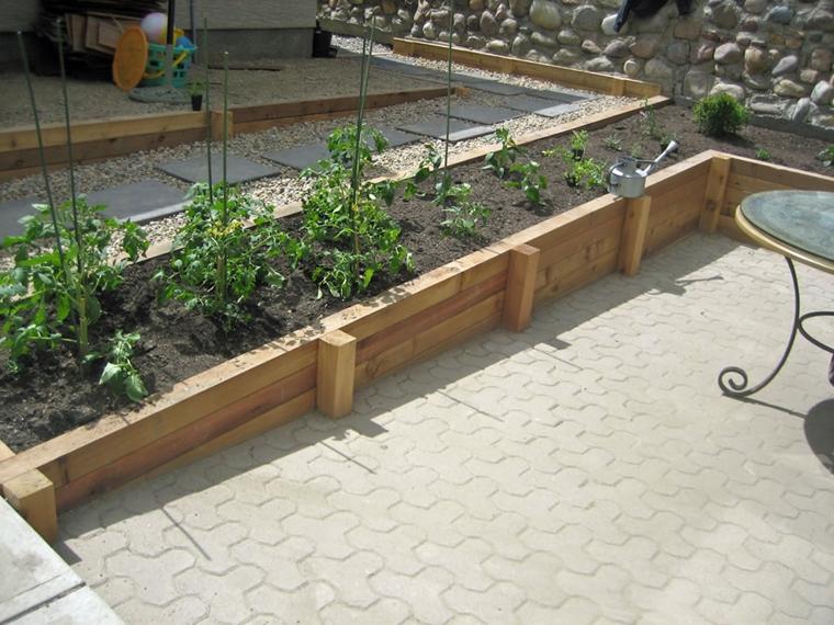 muri contenimento giardino scopo realizzare aiuole