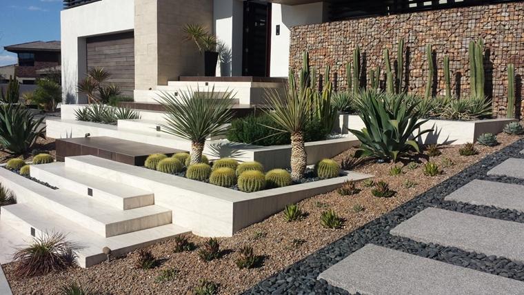 muri contenimento realizzati gabbie metalliche pietre giardino