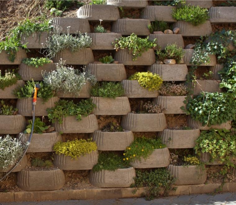 muri di sostegno fioriti vostro giardino