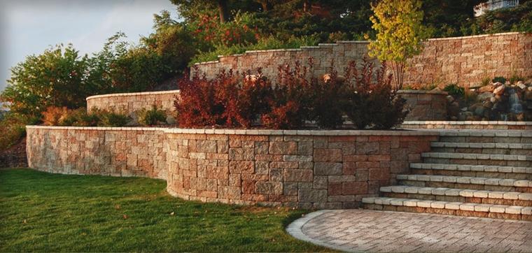 muri di sostegno pietra stile vintage