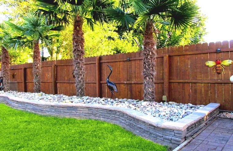 muri di sostegno pietra cortile posteriore