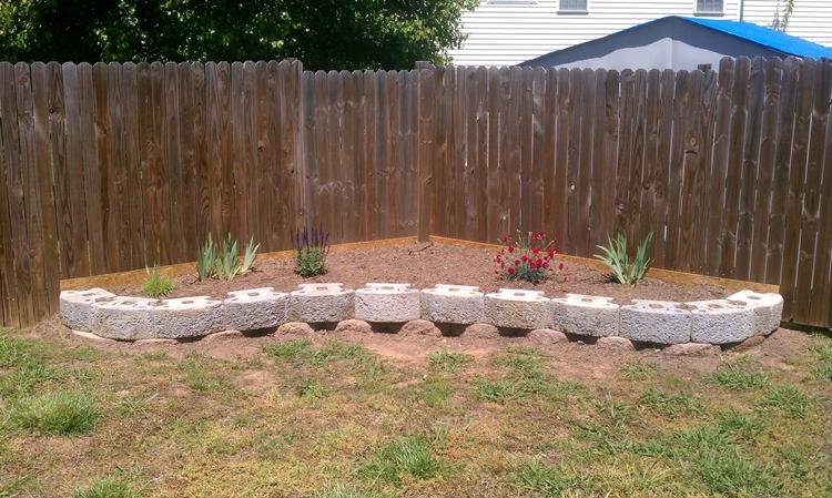muri sostegno blocchi cemento giardino