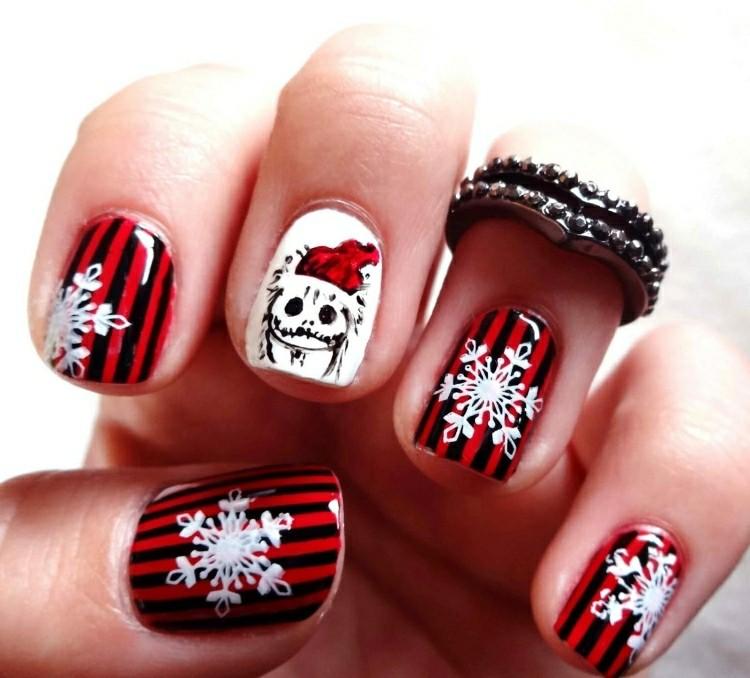 nail art natalizie decorazioni non tradizionali