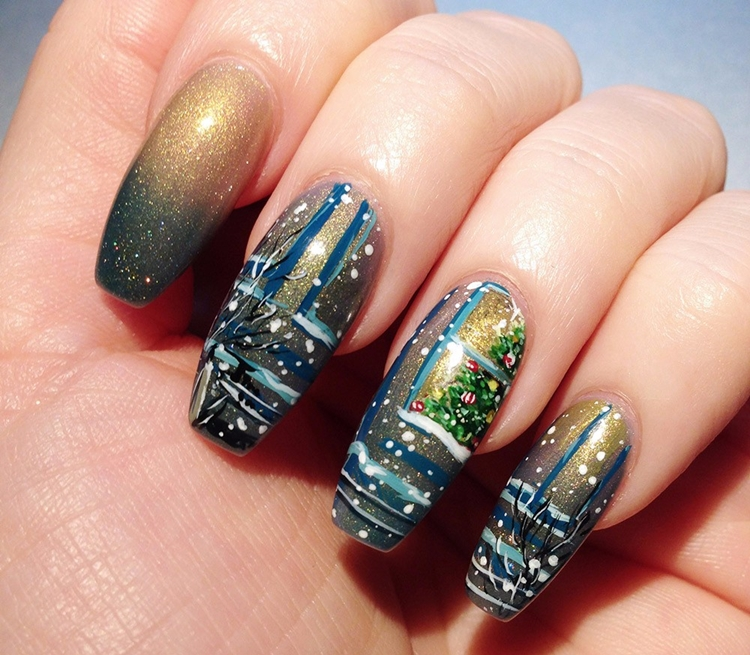 nail art natalizie originali sofisticate
