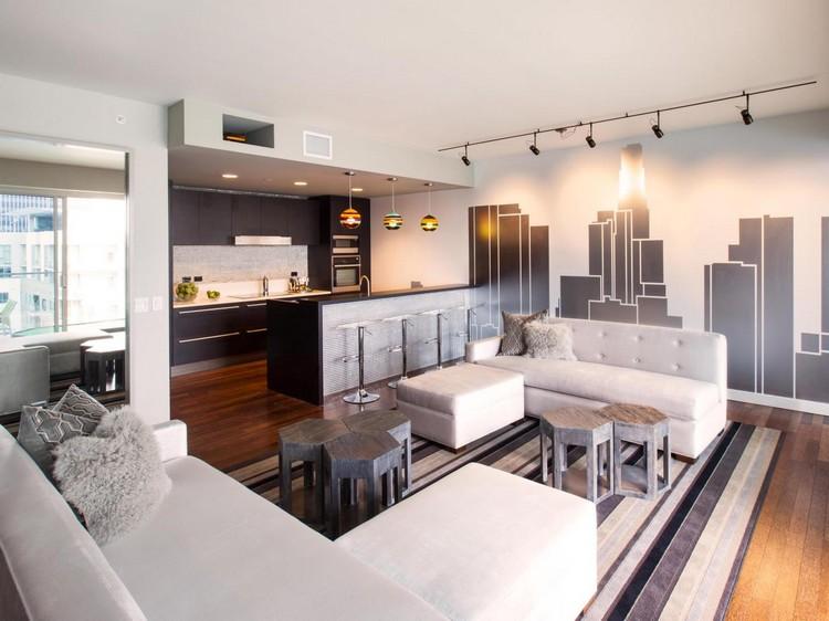 Open space cucina e salotto con design moderno 2 in 1 - Cucina e salotto open space ...