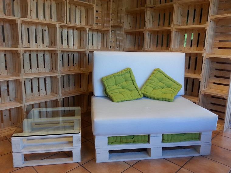 Pallet idee economiche fai da te per arredare la casa - Mobili bancali legno ...