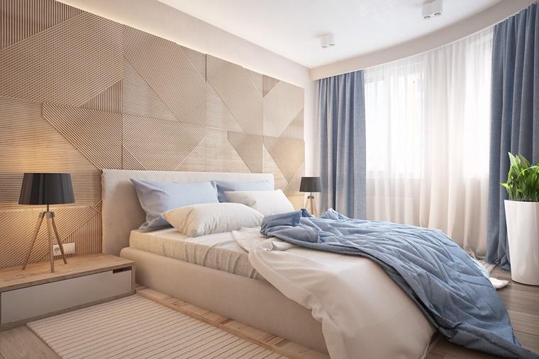 parete creativa toni chiari legno