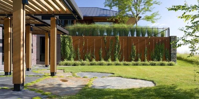 parete divisoria corten giardino