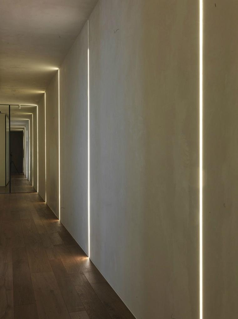 Illuminazione moderna per interni luce incorporata e for Luci parete