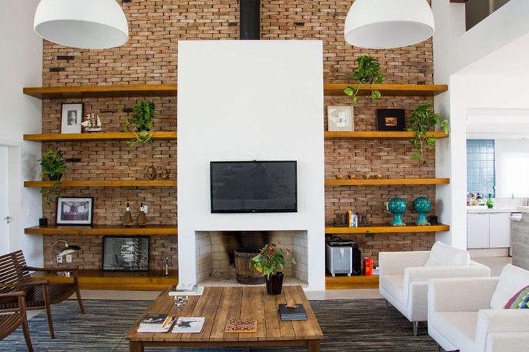 arredare soggiorno con parete porta tv per schermo piatto