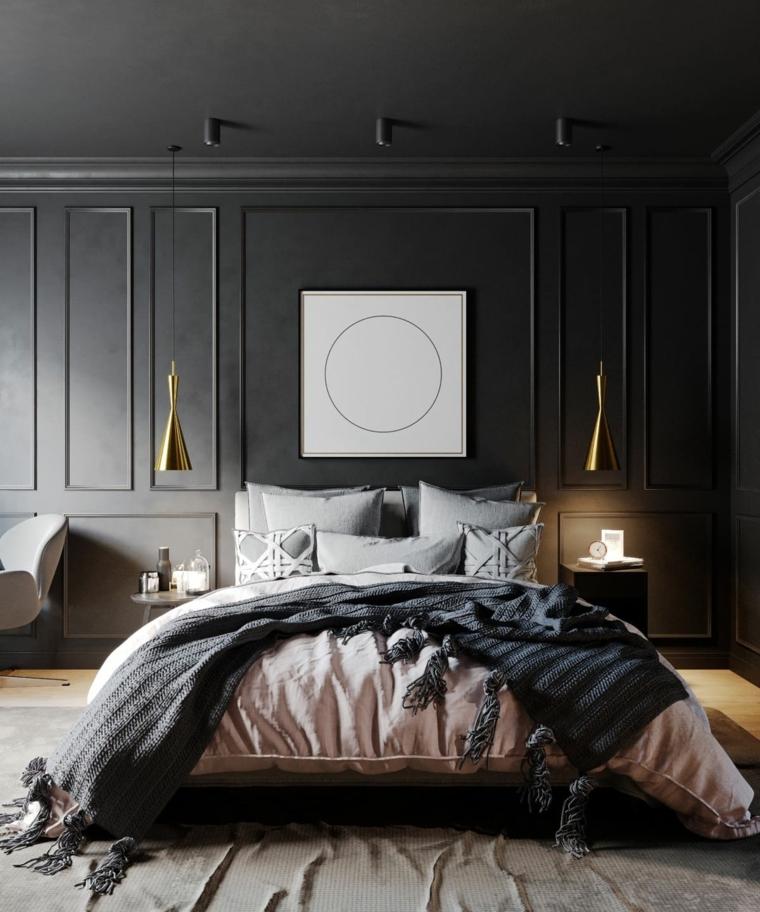 parete pannello legno come mettere cuscini sul letto testata lampade coperte