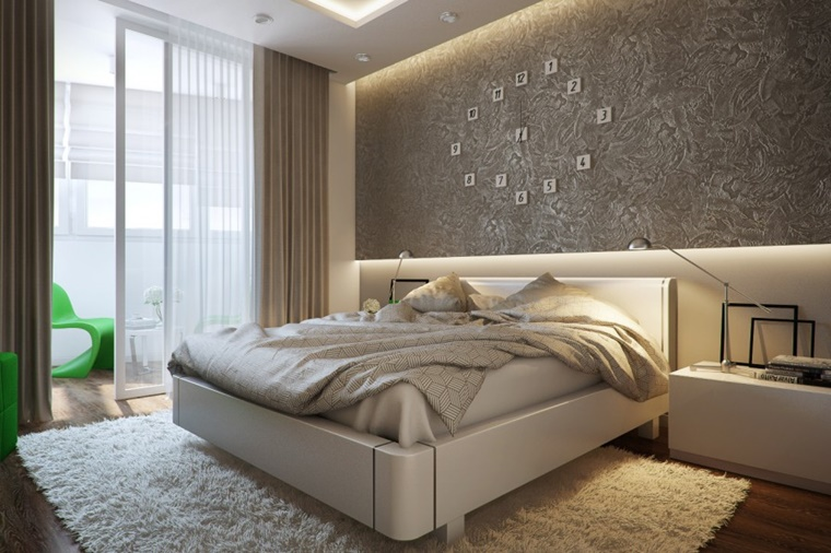 Pareti camera da letto tante idee creative per uno spazio unico - Parete grigia camera da letto ...
