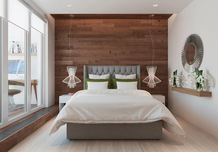 pareti camera da letto pannello legno