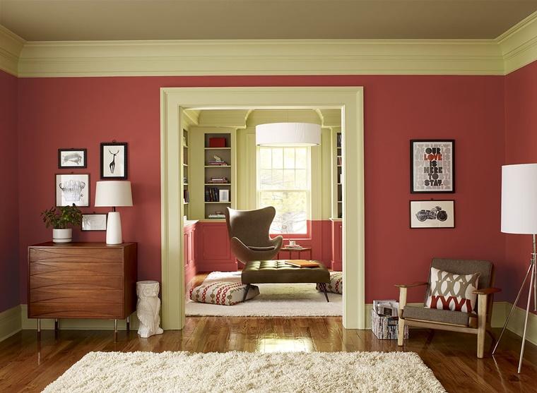 Colore Pareti Bordeaux : Colori per pareti idee per ogni ambiente della casa archzine.it