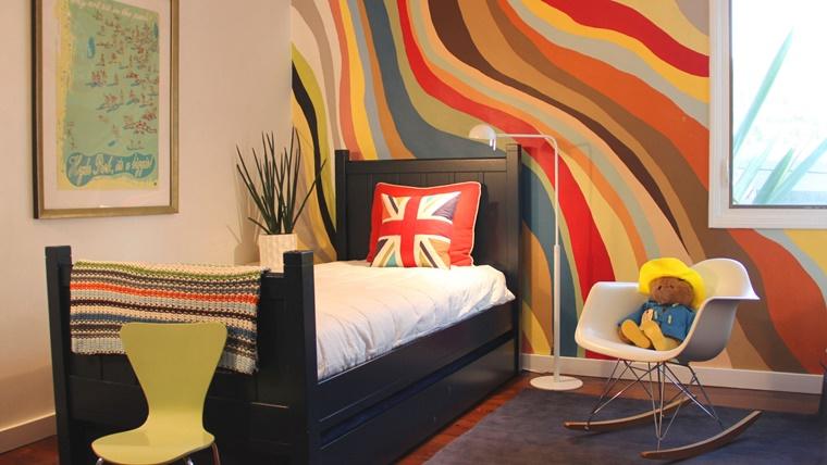 pareti colorate cameretta combinazione colori
