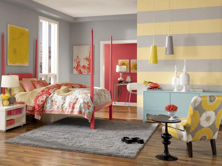Pareti A Strisce Lilla : Pareti a righe verticali lilla idee per dipingere le pareti e far