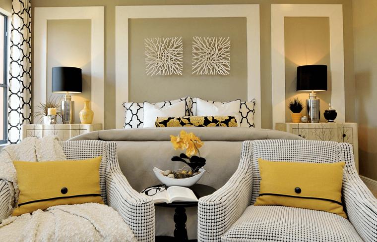 pareti decorate mobilio stile classico