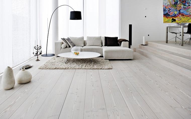 Pavimento Bianco Colore Pareti : Pareti soggiorno e pavimenti in legno: idee per trasformare la zona
