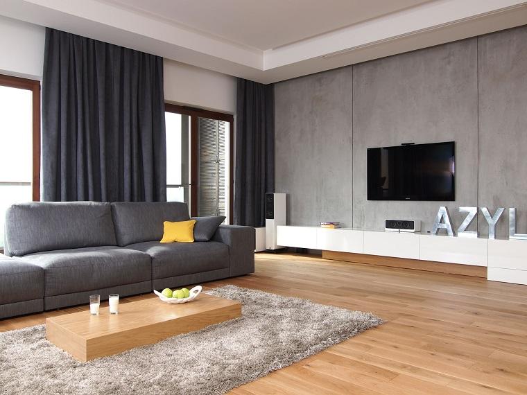 Pareti soggiorno e pavimenti in legno: idee per trasformare la zona ...