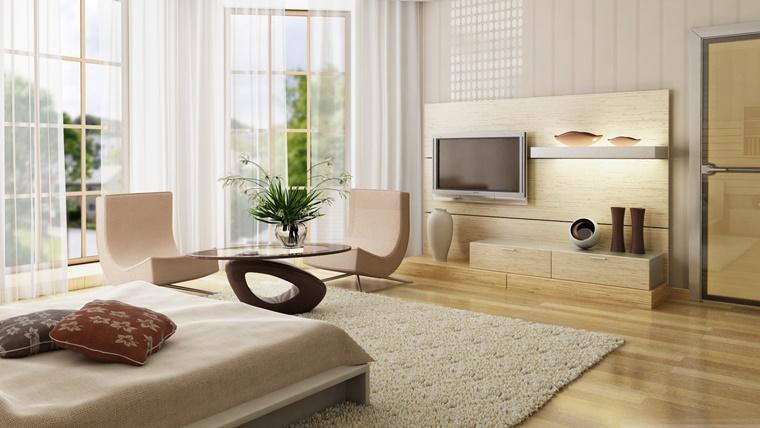 pareti soggiorno colori chiari pavimento laminato