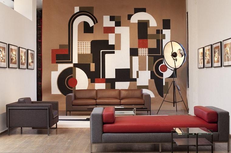 pareti soggiorno decorate stile moderno