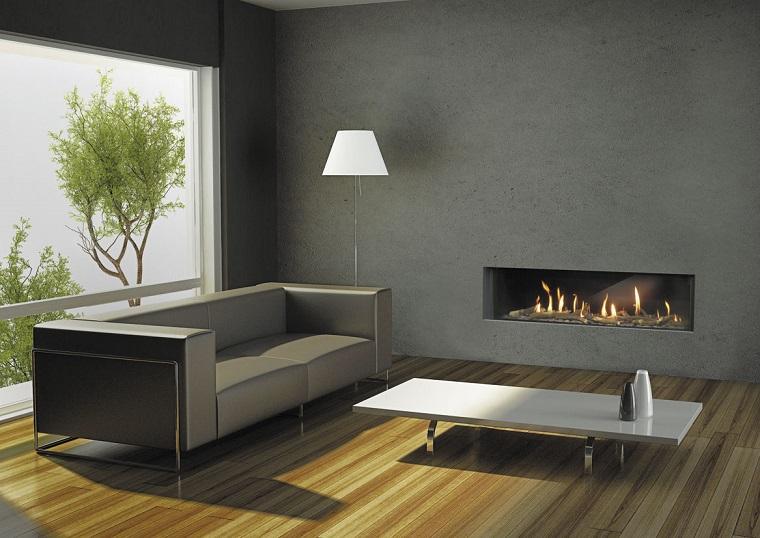 Parete soggiorno proposte e suggerimenti per realizzarle - Pareti grigie soggiorno ...