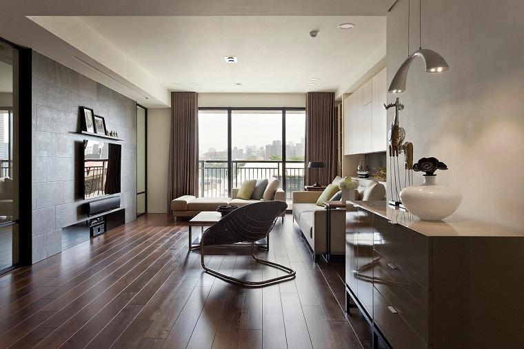 pavimenti in legno idea arredamento stile contemporaneo