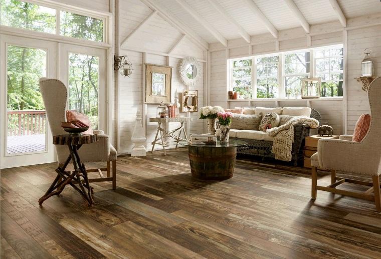 pavimento laminato arredo stile rustico