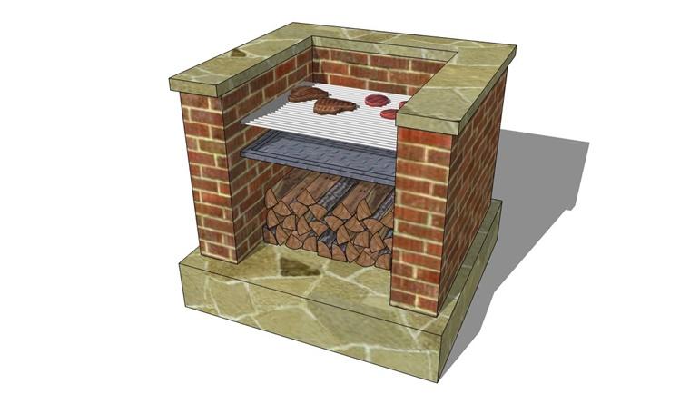 piano costruzione barbecue giardino