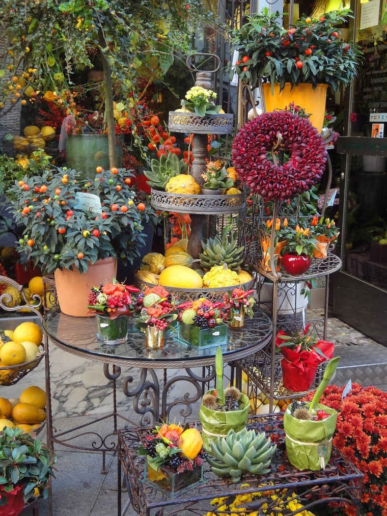 piante autunnali colori caldi composizioni