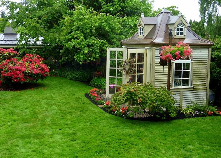 piante da giardino ordinato curata