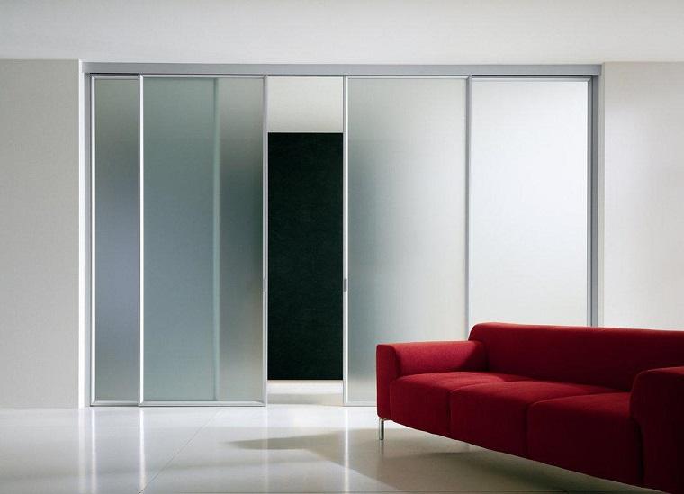 porta scorrevole molto grande vetro