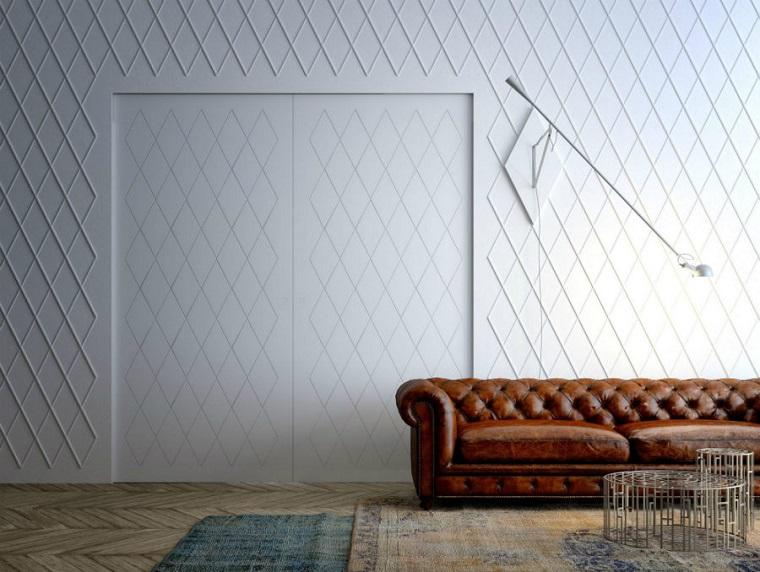 porte interne moderne battenti mimetizzato muro idea