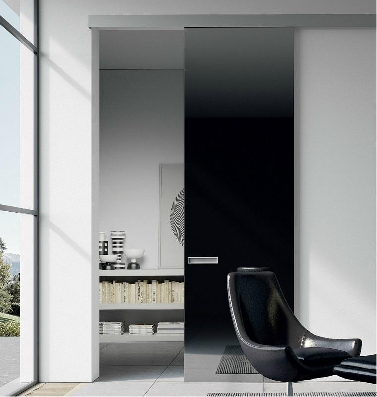 porte interne moderne colore scuro