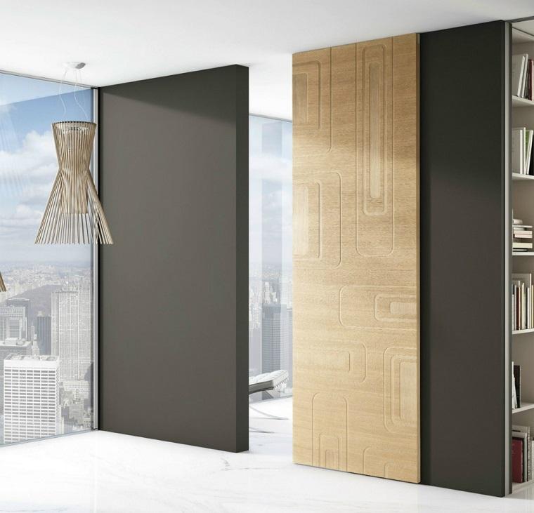 porte interne moderne legno decorato
