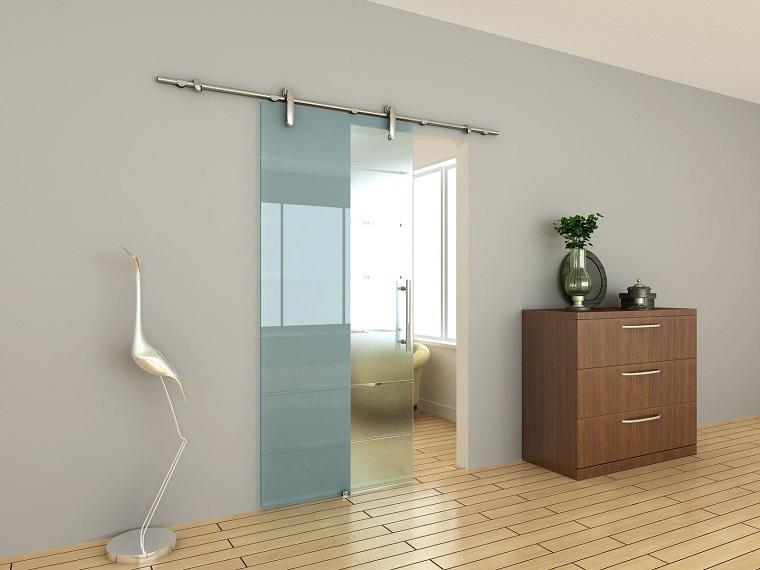 porte interne moderne stile minimal vetro