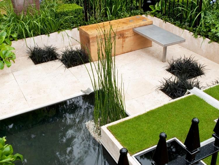 progettazione giardini moderni bambù