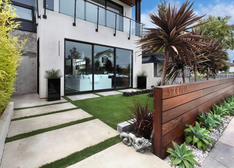 progettazione giardini moderni lastre calcestruzzo