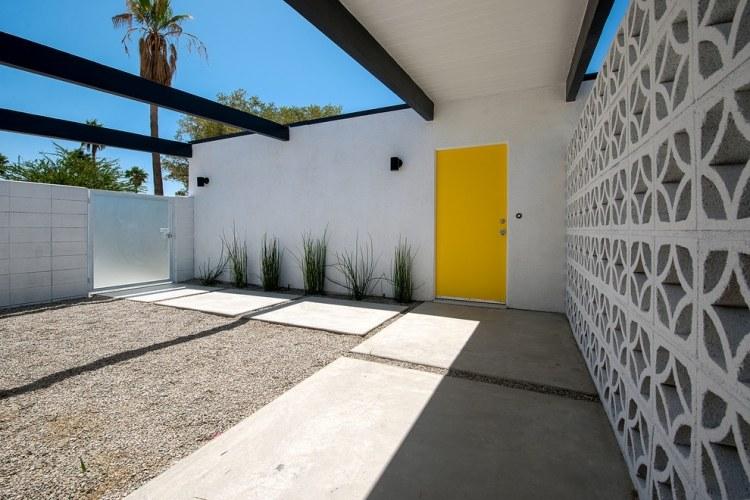 progettazione giardini muro blocchi cemento pavimento laste calcestruzzo