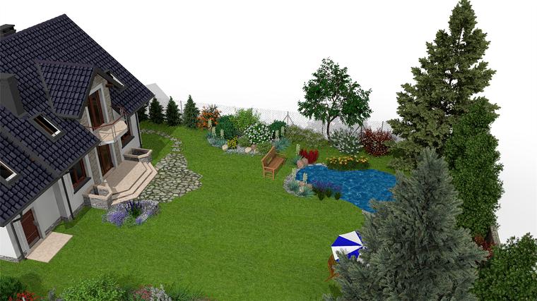 Progettazione giardino 3d creare l 39 area verde online for App progettazione giardini