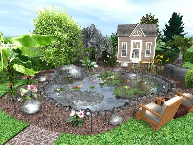 Progettazione giardino 3d creare l 39 area verde online for Creare un laghetto in giardino
